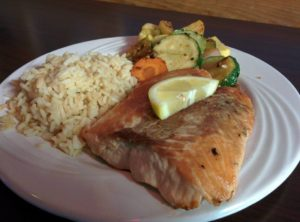 Fresh Salmon is available on St. Pete Beach at Rick's Reef. Serving the BEST Seafood!